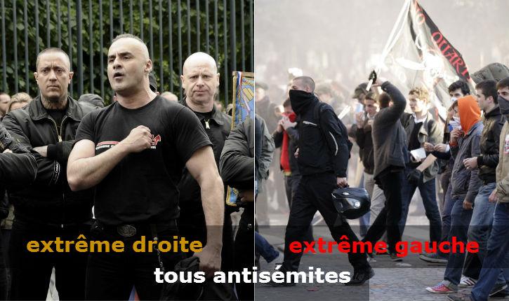 Antisémitisme: extrême droite et extrême gauche se rejoignent pour cracher leur haine antisémite !