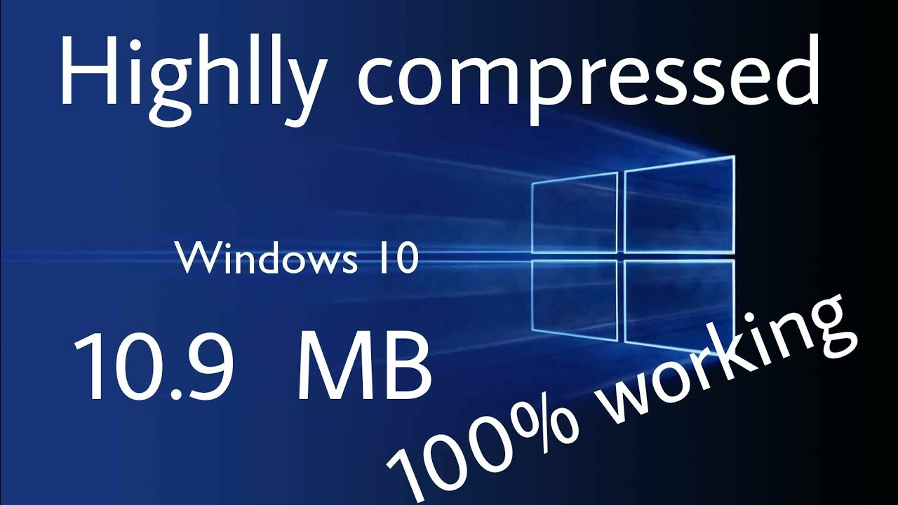 Windows 10 Fully Compressed Simple to Install With ISO File [2021]