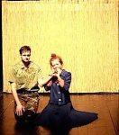 Lukas Wurm und Anne Kulbatzki in Maggie T. auf der Bühne
