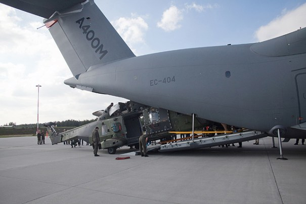 Campaign to validate NH90's airlift by A400M (NH90 : German AirForce)