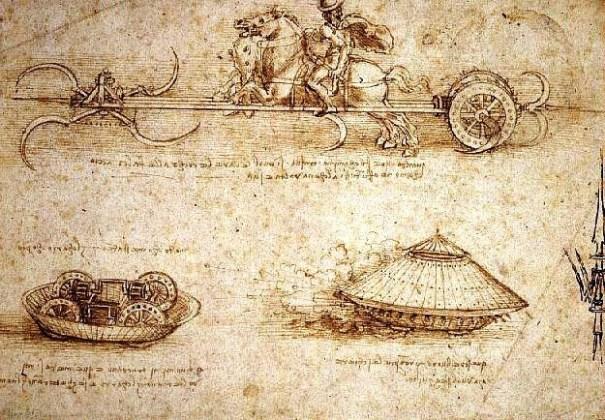 Projet de Char par Léonard de Vinci
