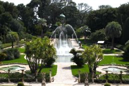 Fountains in the French Garden of the Villa Ephrussi de Rothschild