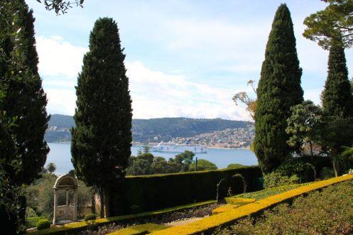 View of Villefranche-sure-Mer from the gardens of Villa Ephrussi de Rothschild