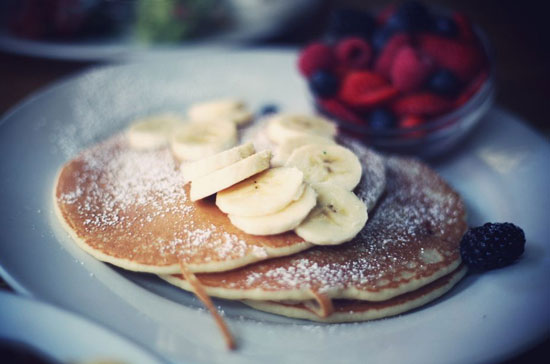 Banana-Chocolate-Pancakes
