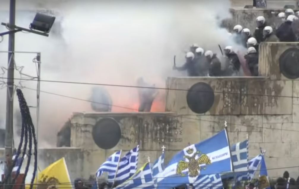 Clashes Break Out in Athens at Mass Protest against Name Dispute Deal with Macedonia