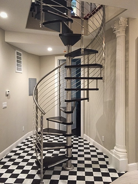 Spiral Stairs European Cabinets Design Studios | Installing A Spiral Staircase | 10 Foot | Glass | Drawing | Interior | Staircase 2