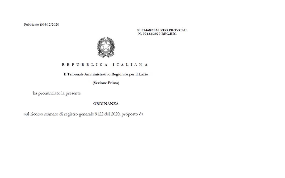 Il TAR del Lazio ordina al Governo di esibire i verbali per giustificare l'adozione dei DPCM sull'obbligo delle mascherine nelle scuole