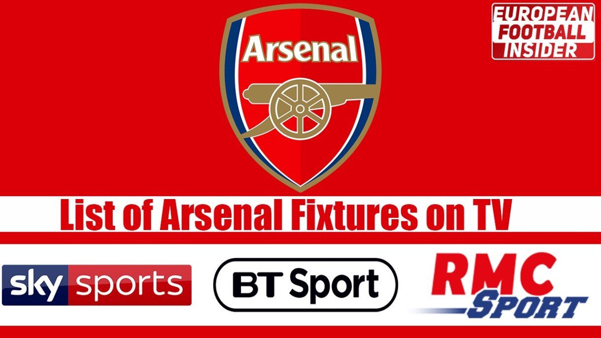 list of arsenal fixtures on tv for 2019/20
