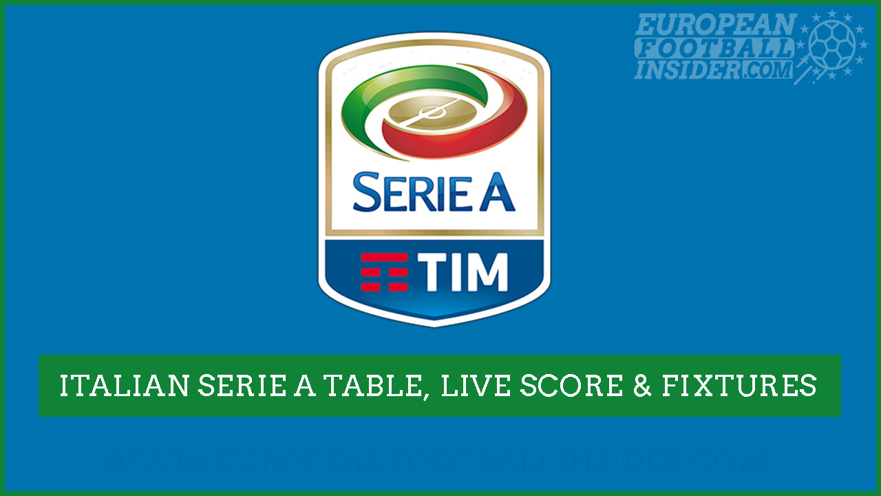 Italian Seria A 2020 21 Live Table Fixtures Results And Livescores