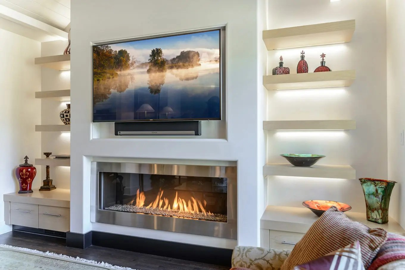 Ask The Experts Should You Install A Tv Over A Fireplace