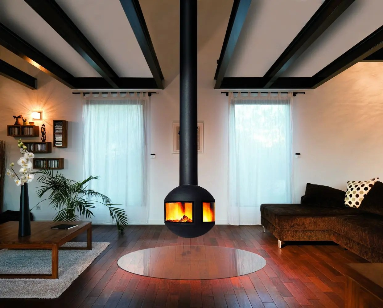 Agorafocus 630 By Focus Fires Modern Suspended Fireplace