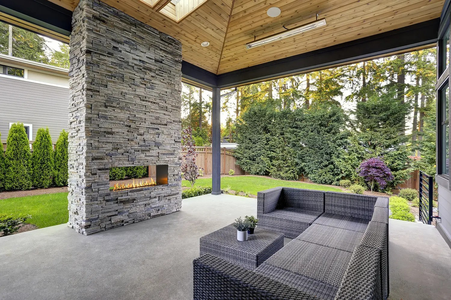 J Series See-Through: Outdoor Gas Fireplace - European Home on Outdoor Gas Fireplace For Deck id=42558