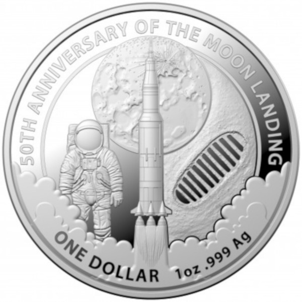 2019 1oz $1 RAM Silver 50th Anniversary of the Moon ...