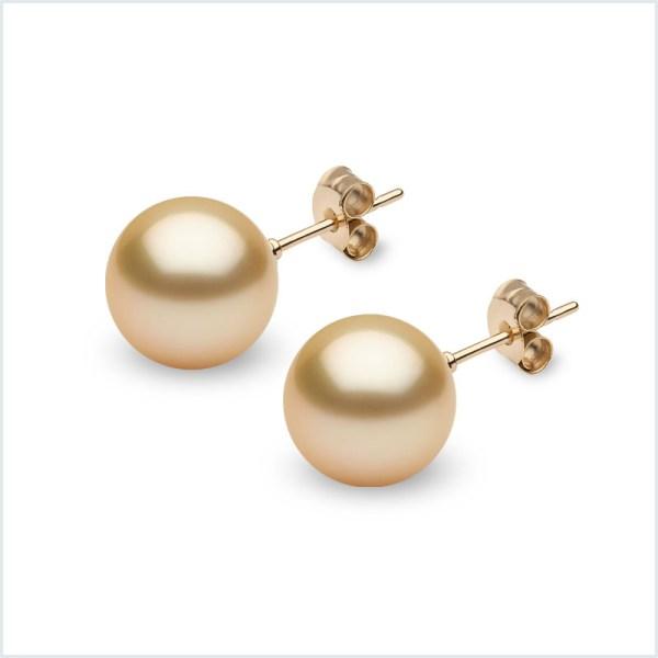 Golden South Sea Pearl Stud Earrings
