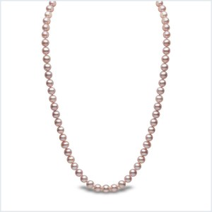 Euro Pearls 7mm Pink Freshwater Pearl Necklace
