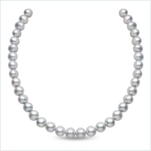 Euro Pearls 10mm Grey Freshwater Pearl Necklace