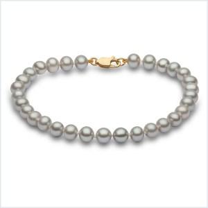 Euro Pearls Grey Freshwater Pearl Bracelet