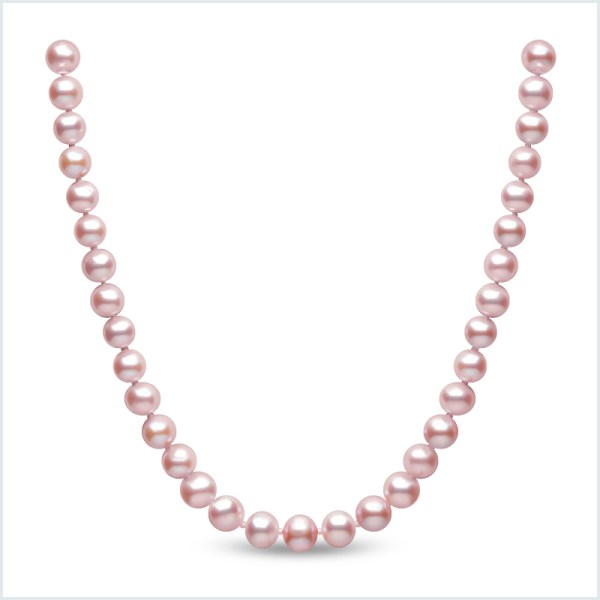 Euro Pearls 8mm Pink Freshwater Pearl Necklace