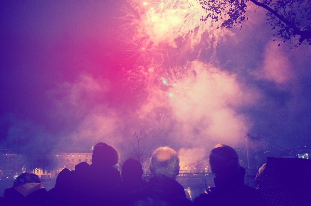 Fete de Lumiere firework display