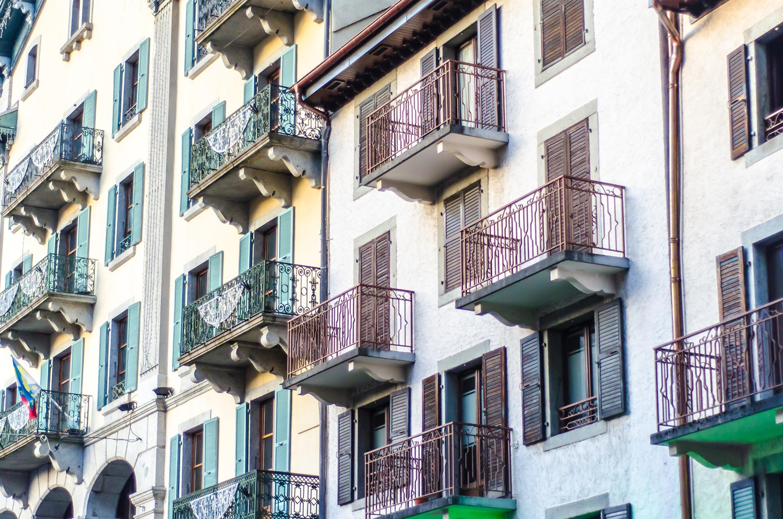 Typical street in Chamonix