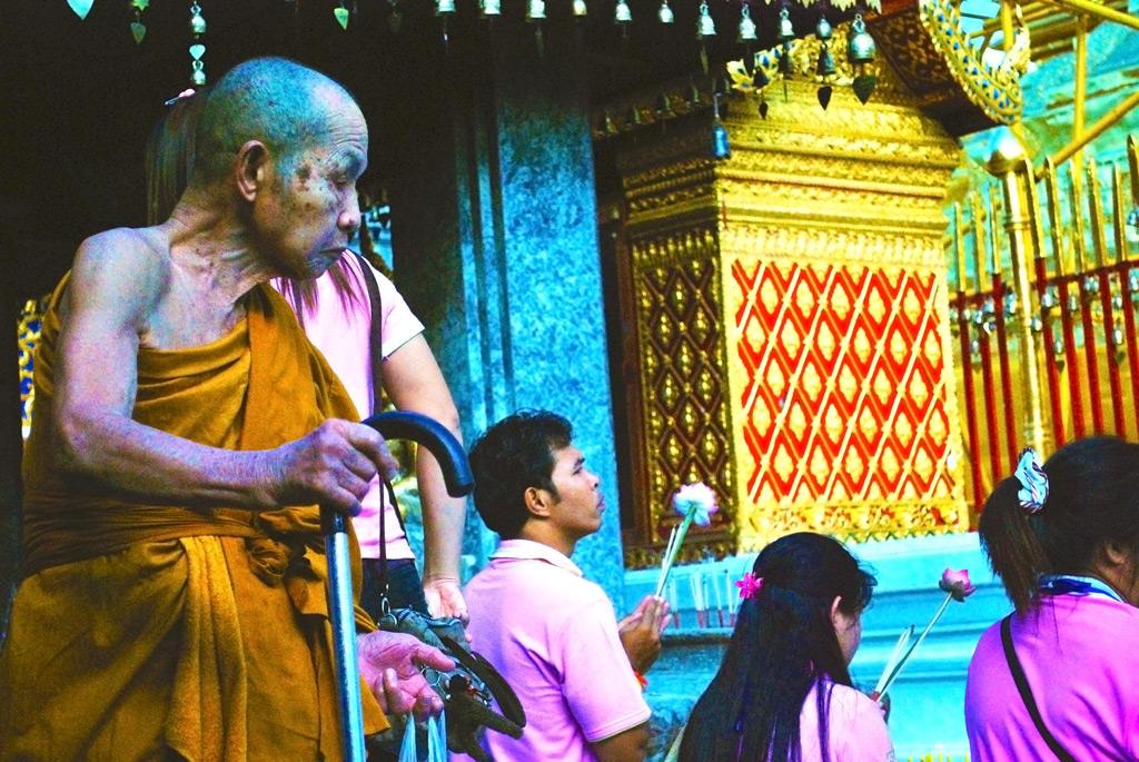 An ancient Monk at Wat Doi Suthep