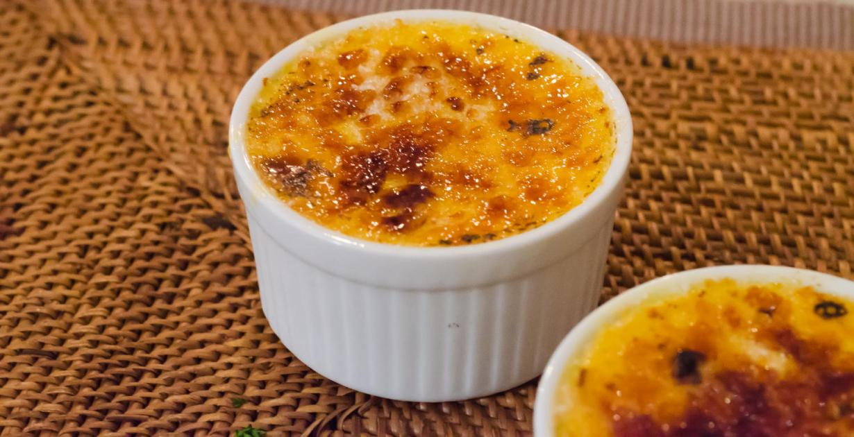 Goats Cheese Creme Brulee recipe