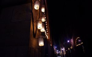 Part of the Processuion route at Luminara Di Santa Croce in Lucca