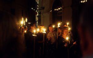 The Processuion at Luminara Di Santa Croce in Lucca