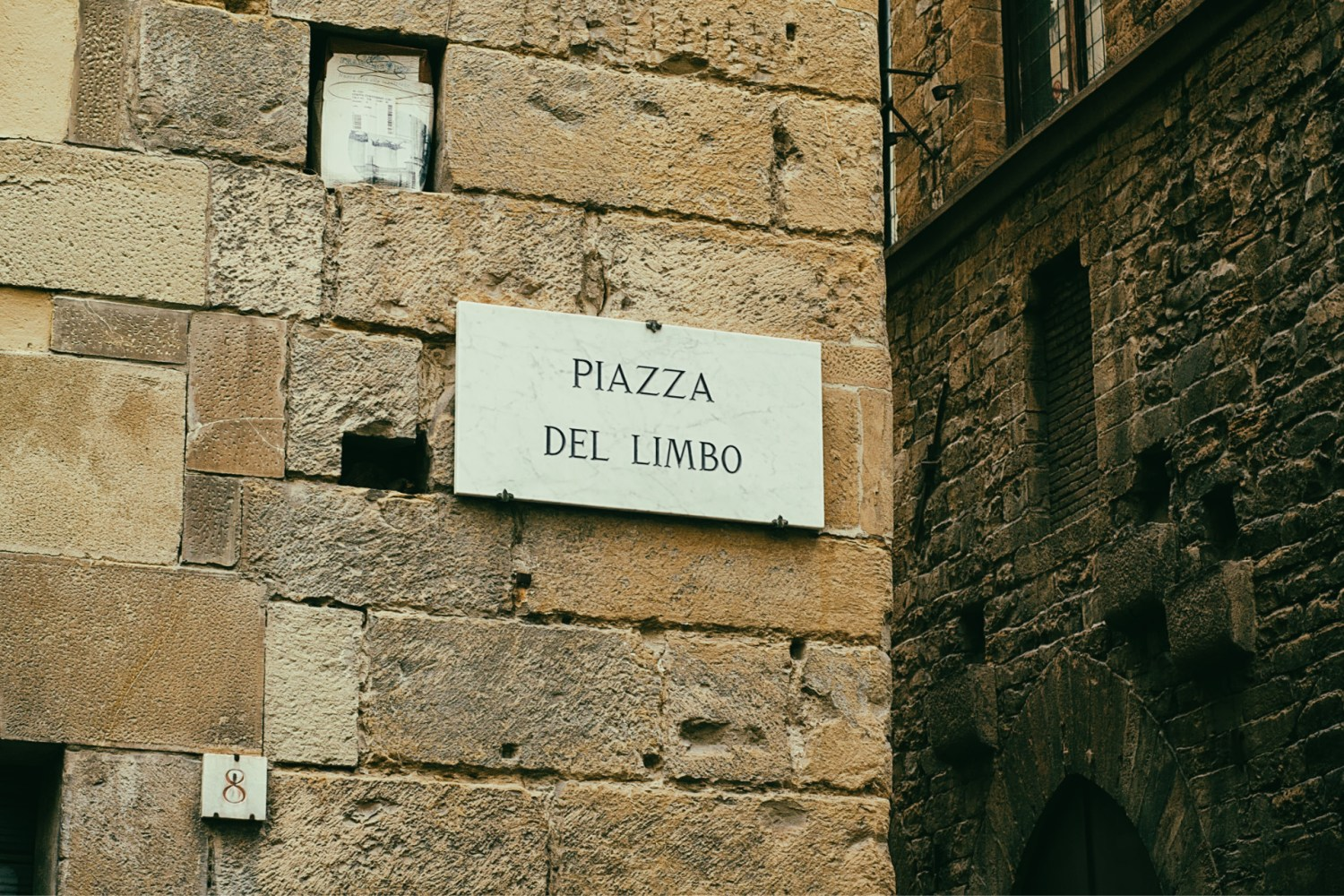 Piazza Del Limbo sign post in Florence