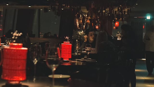 The interiors in Hutong in The Shard London