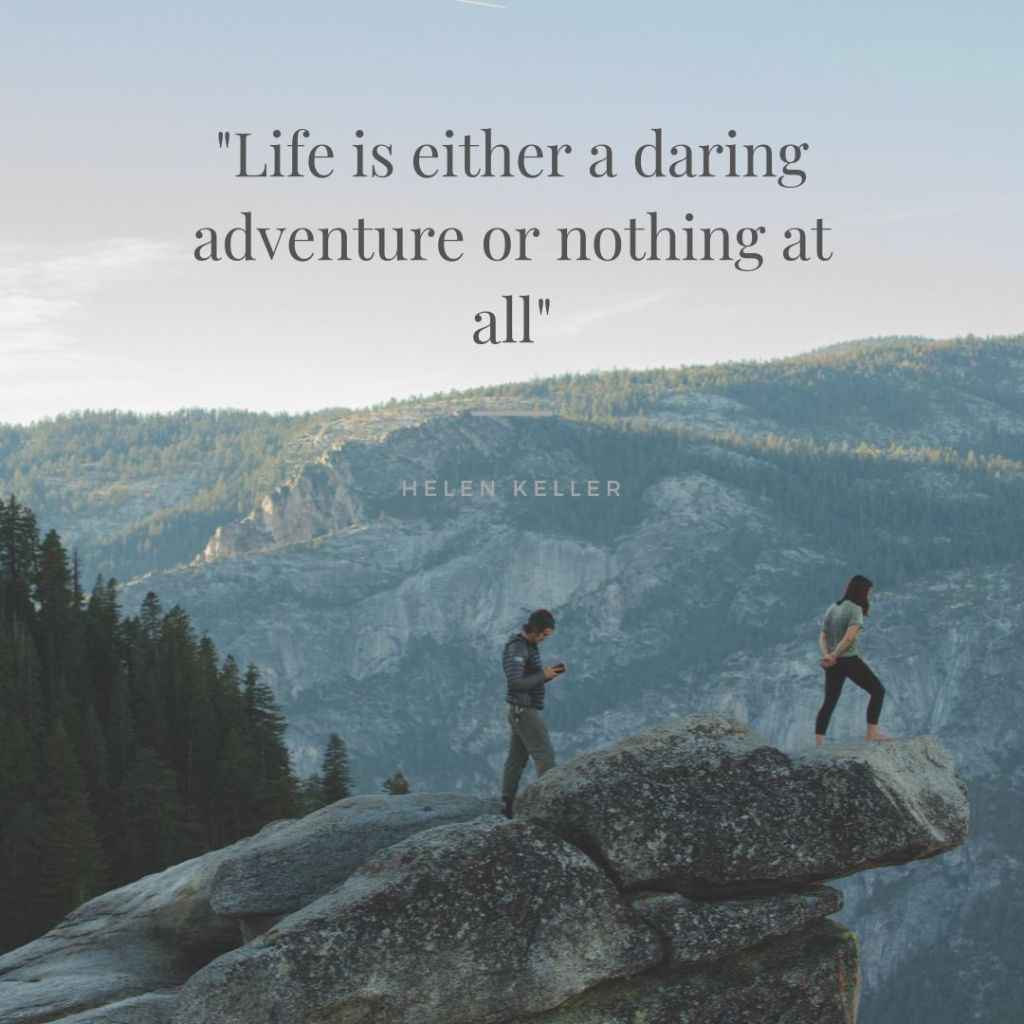 travel quotes life is a daring adventure