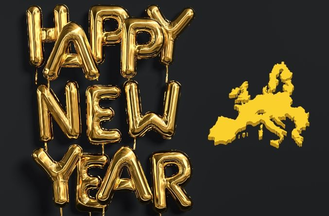 How to say HAPPY NEW YEAR wherever you are in Europe!