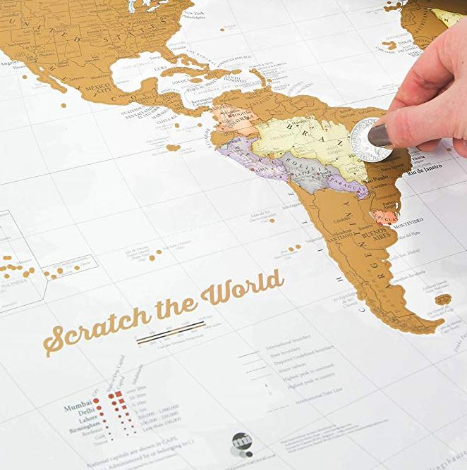 scratch map GIFTS For language lovers