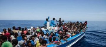 MigrantsinboatMediterranean