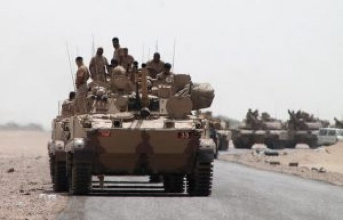 Saudi tanks in Yemen August 2015 AFP_1_1