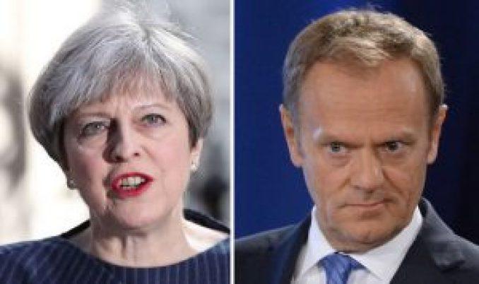 Theresa-May-Donald-Tusk-Sigmar-Gabriel-General-Election-2017-Brexit-David-Davis-EU-793564