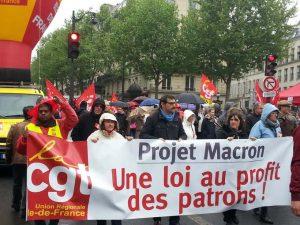 ProtestagainstMacronLoiCGT