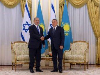 PM Netanyahu with Kazakhstan President Nursultan Nazarbayev