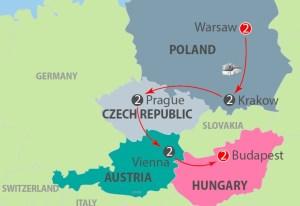 Warsaw to Budapest Tour