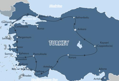 Istanbul to the Mediterranean Sea