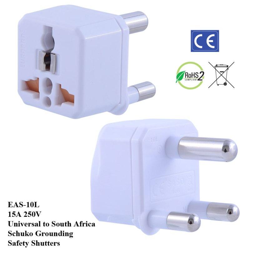 TruAmp WonPro II South Africa Plug Adapter w Safety Shutters, Schuko Ground