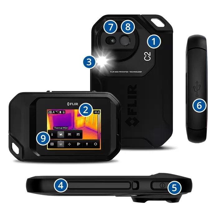 kamera termowizyjna FLIR C2 opis
