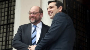 Martin Schulz a Alexis Tsipras. PHOTO: © European Union 2015