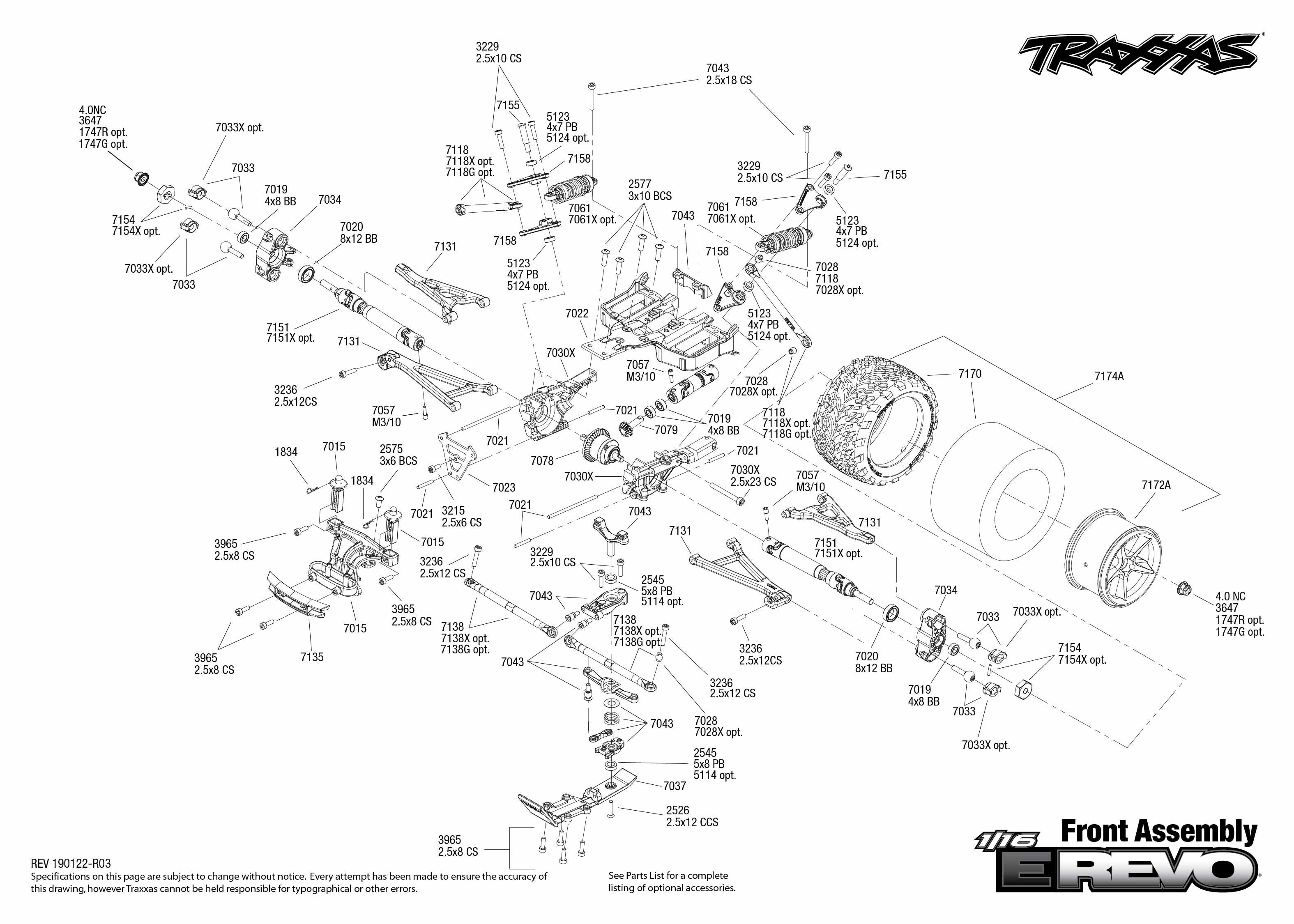 Traxxas E Revo Brushless Parts Diagram