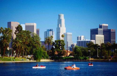 Bella y acogedora ciudad de Los Ángeles