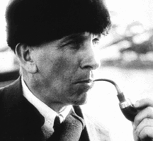 Alfred Wegener smoking a pipe