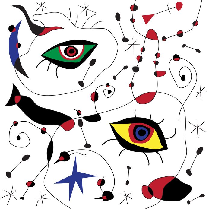 Public confidence in science: Vector abstract background. Fake framework of Mirò