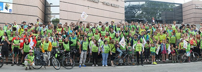 Sciences en Marche: cycling to alert the public on the urge to support sciences