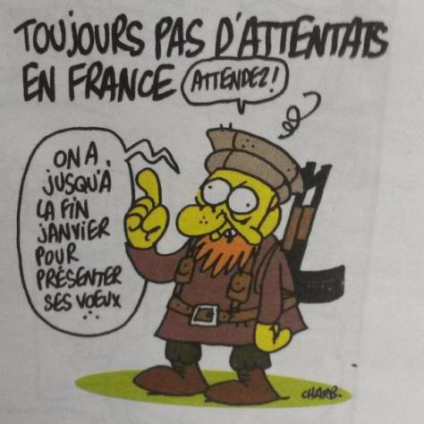 Charb's last drawing at Charlie Hebdo