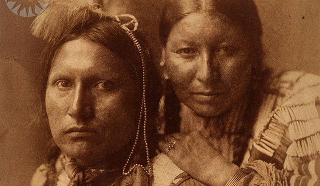 Native American Sioux woman and man